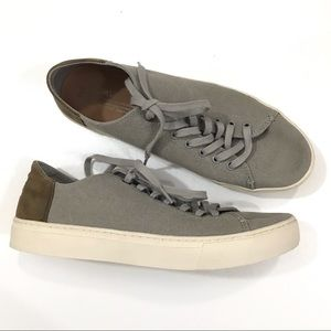 Toms Lenox drizzle gray washed canvas sneakers
